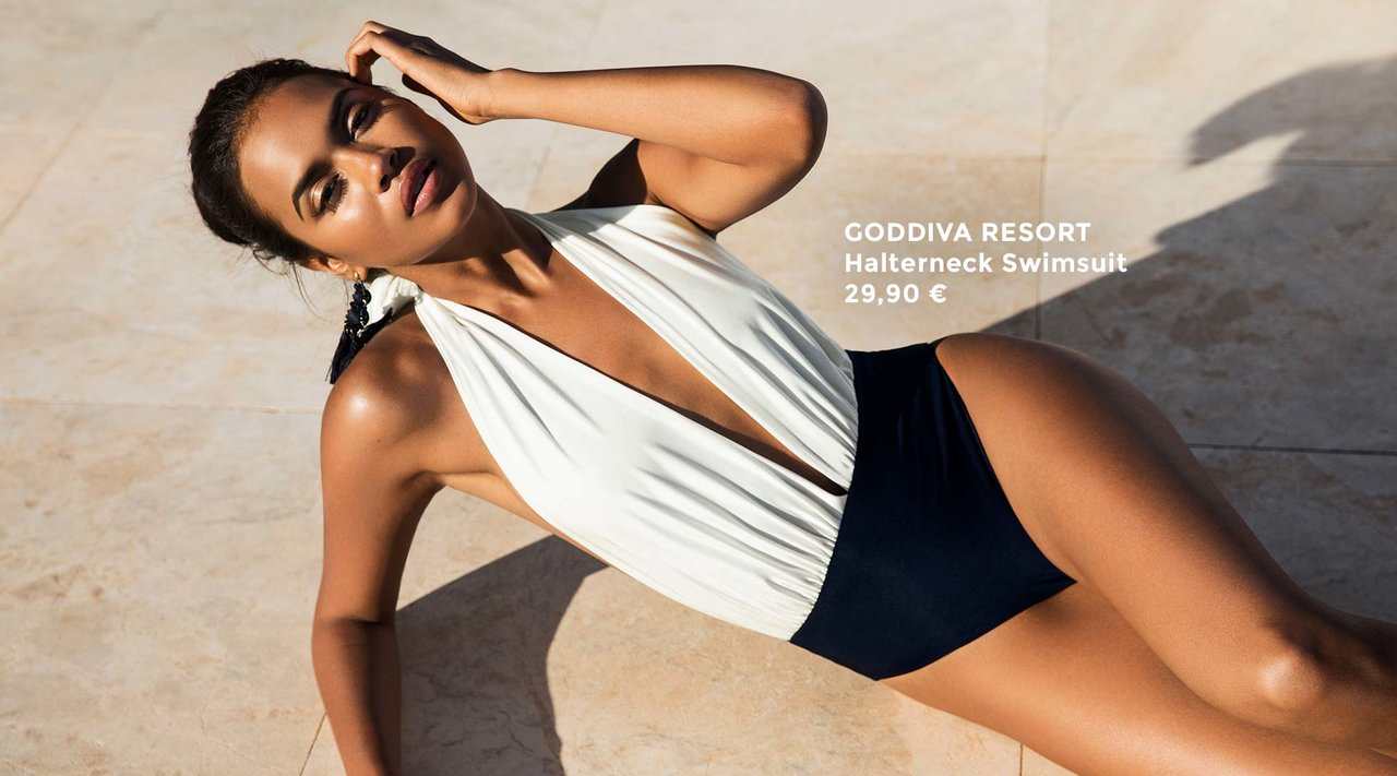 Goddiva Resort Halterneck Swimsuit