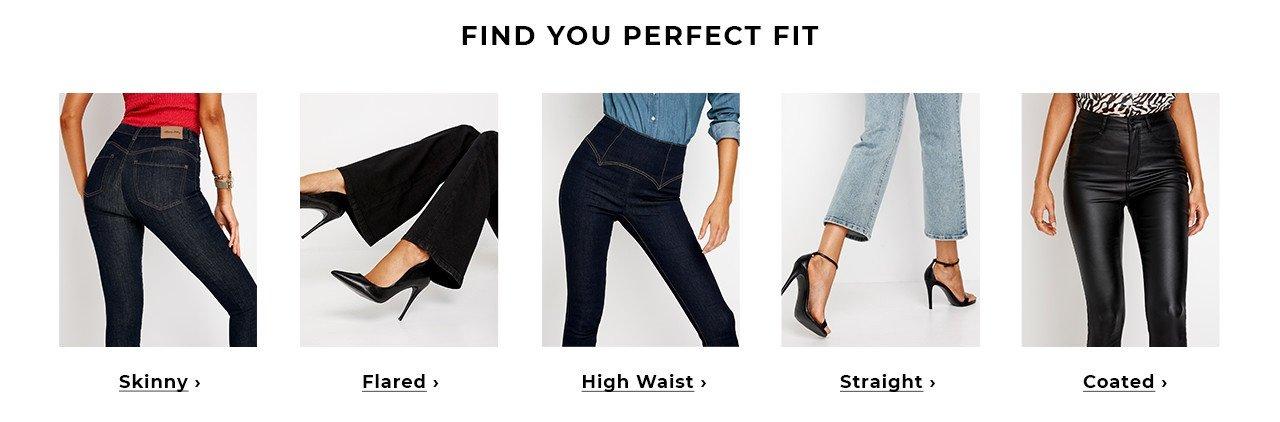 lyödä farkkumallit Bubbleroomissa - Skinny, High waist, Flared, Straight, Coated tai Push-up farkut