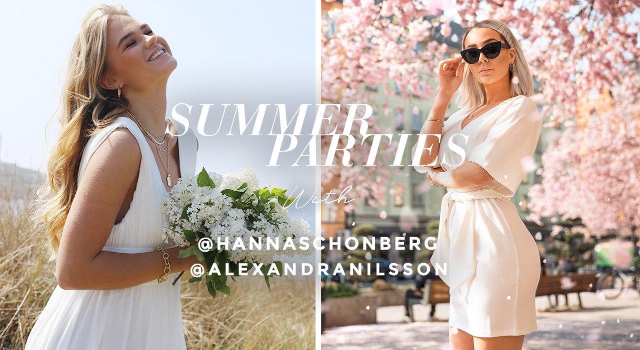 Osta kesän kivat mekot, pitkät ja lyhyet