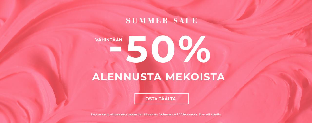 50% alennusta mekoista