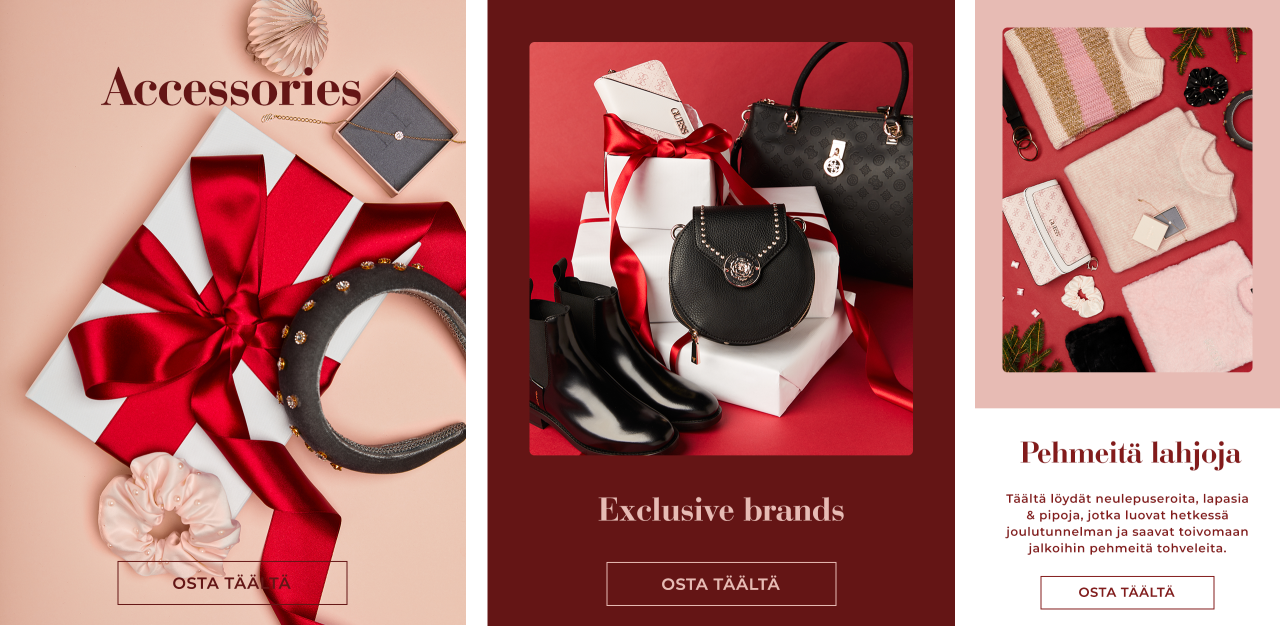 Find your christmas gift - accessories, exclusive brands & soft christmas presents - Osta täältä