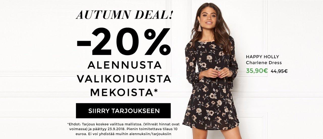 -20% alennusta valikoiduista mekoista