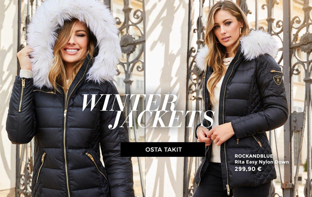Lämpimät takit, kivat pitkät takit ja pehmeät tekoturkikset