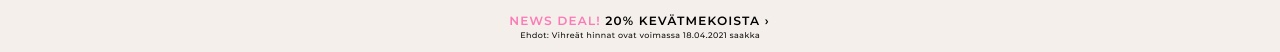 20% alennusta mekoista - Osta täältä