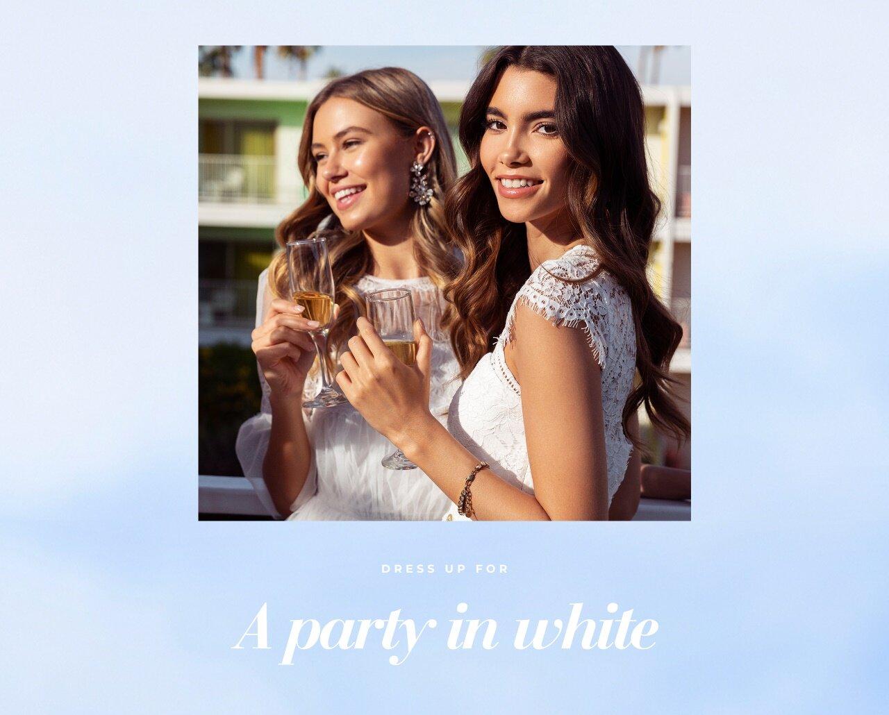 Dress up for a party in white - Osta täältä