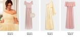 Nicole Falciani x Bubbleroom vaaleanpunaisia ja keltaisiä juhlamekkoja