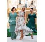 Astrid Frill Gown ja Scala satin wrap mekko