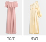 Pink Chiffon Gown ja Yellow Satin Gown