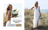 kaunis valkoinen pitkä mekko