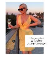 Marianna Front Twist Dress Light