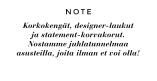Korkokengät, designer-laukut  ja statement-korvakorut