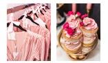 Söta namnskyltar på galge passade bra ihop med de rosa klänningarna