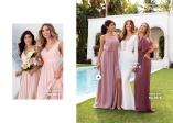 vaaleanpunainen Morsiusneitojen mekko