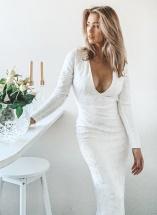 long sleeved bridal dress