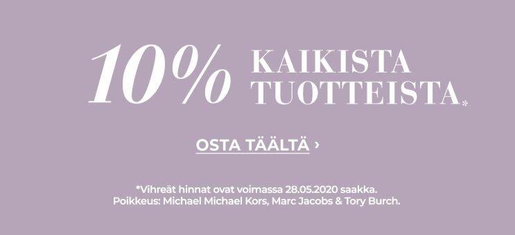 10% kaikista tuotteista