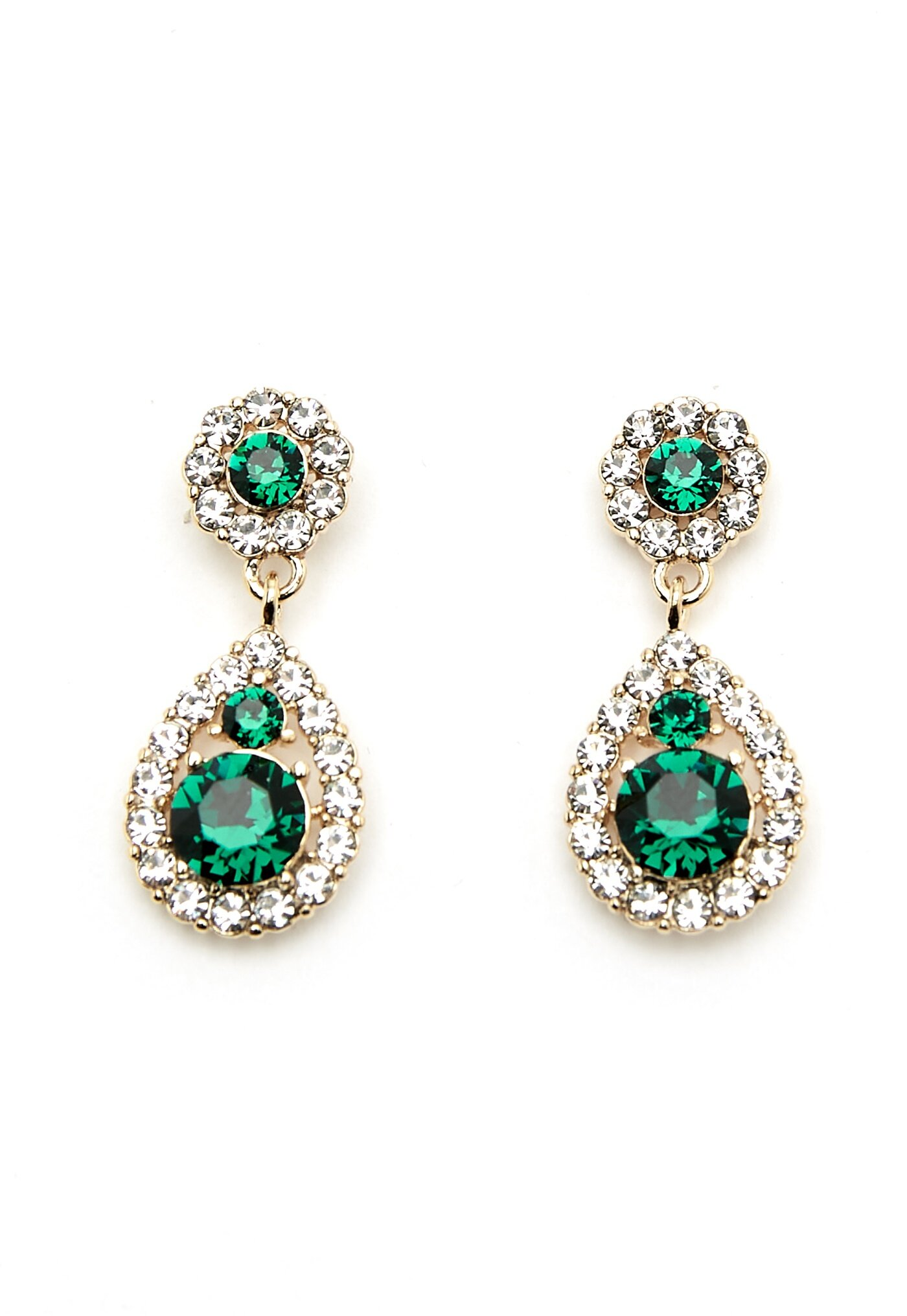 LILY AND ROSE Petite Sofia Earrings Emerald - Bubbleroom