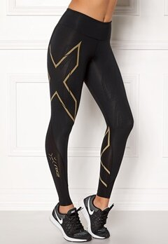 2XU MCS Run Compression Black/Gold logo Bubbleroom.fi
