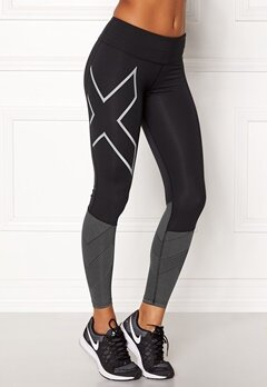 2XU Mid-Rise Reflect Tights Black/silver Bubbleroom.fi