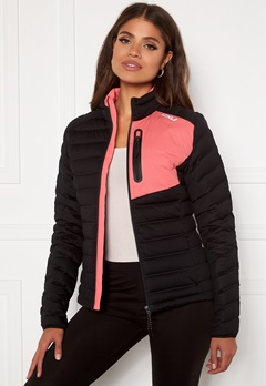 2XU Pursuit Insulation Jacket BLK/PLT Black/Pink L Bubbleroom.fi