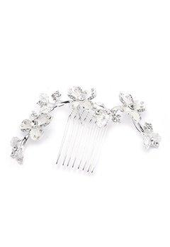 Ivory & Co Peony Haircomb Silver Bubbleroom.fi