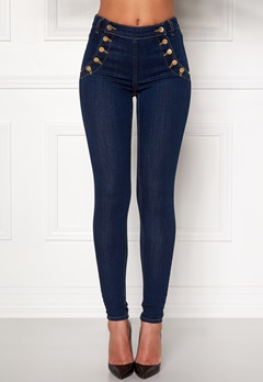 77thFLEA Adina highwaist jeans Midnight blue Bubbleroom.fi