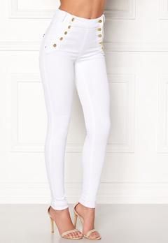 77thFLEA Adina highwaist jeans White Bubbleroom.fi