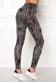 77thFLEA Caleido printed leggings Black / White / Patterned Bubbleroom.fi
