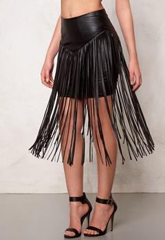 77thFLEA Frankie fringe skirt Black Bubbleroom.fi