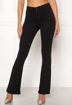 77thFLEA Jadah high waist flared superstretch Black Bubbleroom.fi