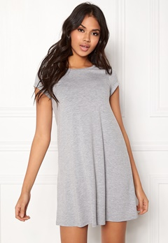 77thFLEA Lara t-shirt dress Grey melange Bubbleroom.fi