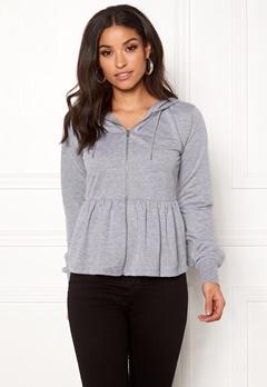 77thFLEA Lucy peplum sweater Grey melange Bubbleroom.fi