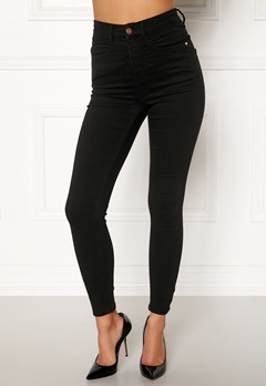 77thFLEA Sandy highwaist superstretch  Black Bubbleroom.fi