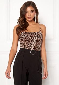 77thFLEA Sara strap top Leopard Bubbleroom.fi