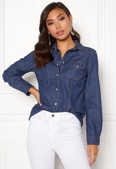 77thFLEA Shirley denim shirt Medium blue Bubbleroom.fi