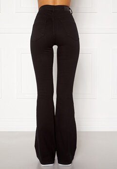 77thFLEA Tove high waist flared superstretch Black Bubbleroom.fi