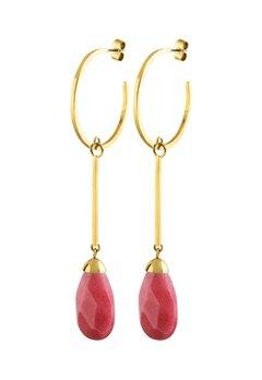 Dyrberg/Kern Akua Earrings Red Bubbleroom.fi