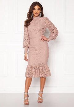 Alexandra Nilsson X Bubbleroom Lace flounce skirt Dusty lilac Bubbleroom.fi