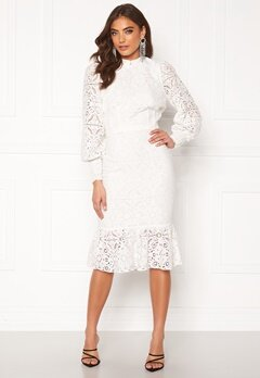 Alexandra Nilsson X Bubbleroom Lace flounce skirt White Bubbleroom.fi