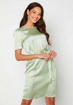 Alexandra Nilsson X Bubbleroom Satin T-shirt Dress Mint green Bubbleroom.fi
