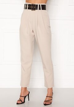 Alexandra Nilsson X Bubbleroom Super highwaisted suit trousers Beige Bubbleroom.fi