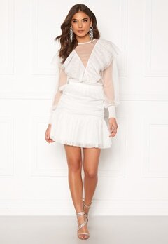 Alexandra Nilsson X Bubbleroom Tulle frill skirt Offwhite Bubbleroom.fi