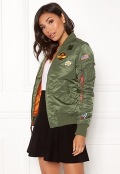 Alpha Industries MA-1 VF Patch Jacket Sage Green Bubbleroom.fi
