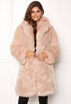 AMO Couture Imperial Faux Fur Long Coat Softy Beige Bubbleroom.fi