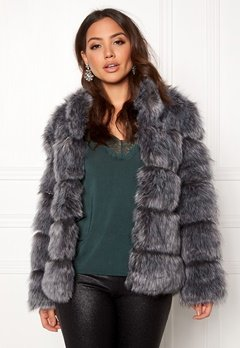 AMO Couture Phantom Faux Fur Short Coat Silver Fox Bubbleroom.fi