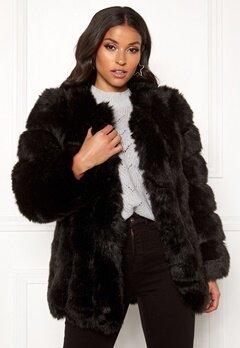 AMO Couture Renaissance Faux Fur Coat Black Bubbleroom.fi