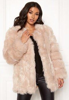 AMO Couture Renaissance Faux Fur Coat Soft Beige Bubbleroom.fi