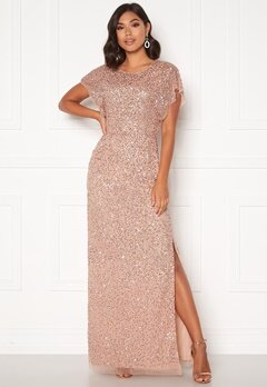 AngelEye Allover Sequin Maxi Dress Cameo Rose Bubbleroom.fi