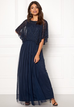 AngelEye Angel Sleeve Maxi Dress Navy Bubbleroom.fi
