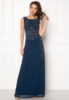AngelEye Decorative Sequin Dress Navy Bubbleroom.fi