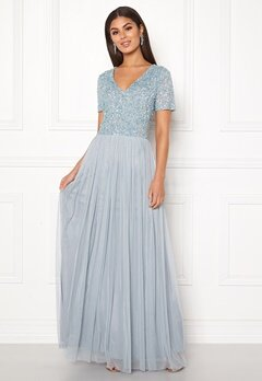 AngelEye Embellished Maxi Dress Heather Blue Bubbleroom.fi